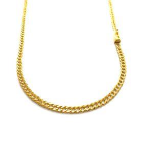 Corrente Double Grumet Diamantada 4mm 60cm 18g (Fecho Gaveta) (Banho Ouro 24k)