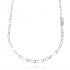 Corrente Piastrine 3,3mm 70cm (9,6g) (Fecho Gaveta) (Banho Prata 925)