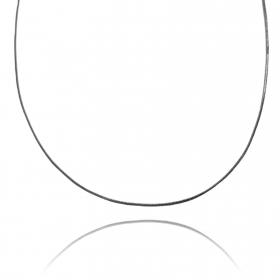 Corrente Rabo De Rato Quadrada 1,2mm 60cm (Fecho Tradicional) (Banho de Ônix)