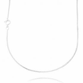 Corrente Veneziana 1,2mm 70cm (Fecho Tradicional) (Banho Prata 925)