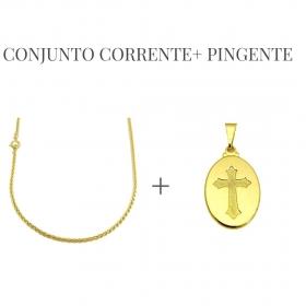 Kit 137 Corrente Peruana 2mm  (60 ou 70cm) + Medalha P03 (Fecho Tradicional) *