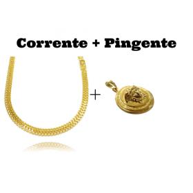 kit Corrente Grumet Union 6mm 60cm (22,1g) (Fecho Gaveta) + Pingente Medusa 2,9cm X 2,9cm (12g)