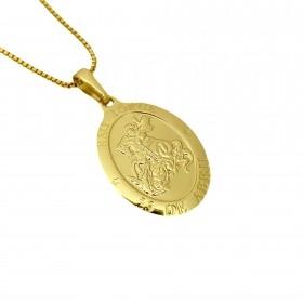 Medalhão de São Jorge 2,6cm X 1,7cm