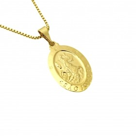 Pingente Medalhão de São Jorge Mini (2,5cmX1,6cm) (Banho Ouro 24k)