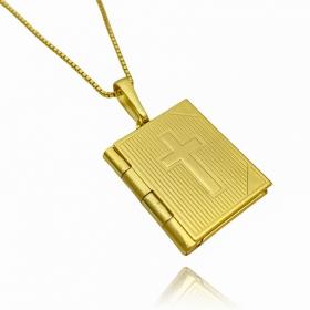 Pingente Biblia Recordações (Banho Ouro 24k)