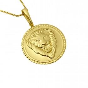 Pingente Cara Leão Relevo 2,6cm X 2,6cm