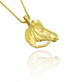 Pingente Cavalo (2,3cmX2,6cm) (Banho Ouro 24k)