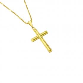 Pingente Crucifixo 2,5cm X 1,6cm (Banho Ouro 24k)