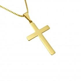 Pingente Crucifixo Chapado 2,8cm X 1,6cm (Banho Ouro 24K)
