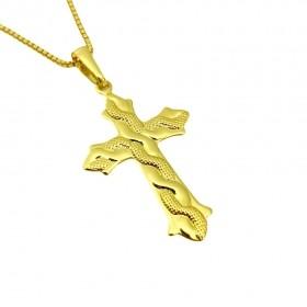 Pingente Crucifixo Cobra 3,2cm X 2,0cm