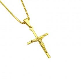 Pingente Crucifixo Cristo Relevo 2,5cm X 1,6cm