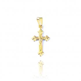 Pingente Crucifixo Jesus Medio (2cm X 1,1cm) (Banho Ouro 24k)