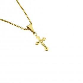 Pingente Crucifixo Jesus mini 1,4cm X 0,7cm