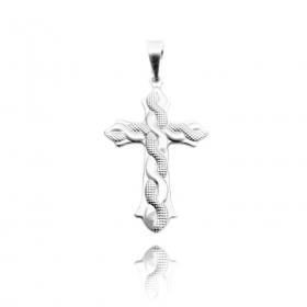 Pingente Crucifixo Serpenteado (3,5cmX2,2cm) (Prata 925 Italiana)