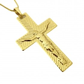 Pingente Crucifixo Texturizado Relevo 4,5cm X 2,8cm