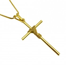Pingente Crucifixo Trançado 4,0cm X 2,2cm