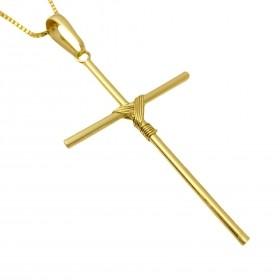 Pingente Crucifixo Trançado 5,0cm X 2,9cm