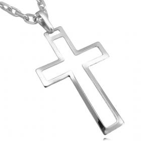 Pingente Crucifixo Vazado (2,8cmX4,5cm) (Banho Prata 925)