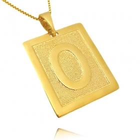 Pingente De Letra (3,1cmX2,6cm) (Entre e escolha a sua letra) (Banho Ouro 24k)