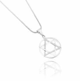Pingente Estrela de Davi (1,7cmX1,7cm) (Banho Prata 925)