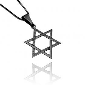 Pingente Estrela de Davi (2,6cmX2,3cm) (Banho de Ônix)
