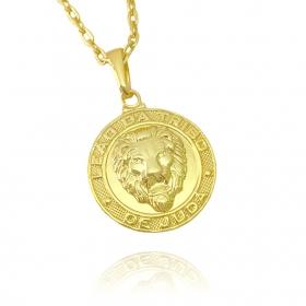Pingente Leão de Juda (2,5cmX2,2cm) (Banho Ouro 24k)