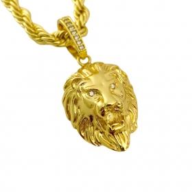 Pingente Leão Maciço 3,0x2,2cm (17g) (Banho Ouro 24k)