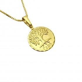 Pingente Medalha Árvore Da Vida 1,5cm X 1,5cm