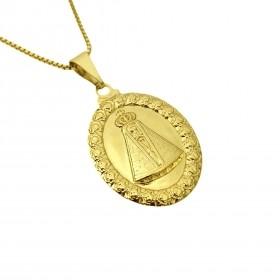 Pingente Medalhão Nossa Senhora Aparecida 2,9cm x 2,0cm