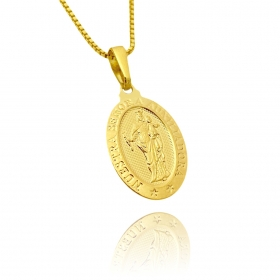 Pingente Nossa Senhora Auxiliadora (2,5cmX1,6cm) (Banho Ouro 24k)