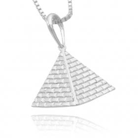 Pingente Pirâmide 4D (3,5cmX3,8cm) (7g) (Banho Prata 925)