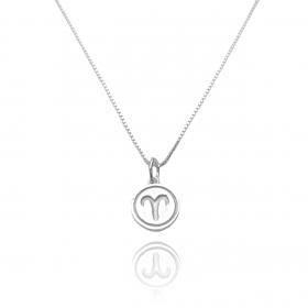 Pingente Signo Áries (1,4cmX1,2cm) (Prata 925 Maciça)