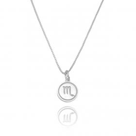 Pingente Signo Escorpião (1,4cmX1,2cm) (Prata 925 Maciça)