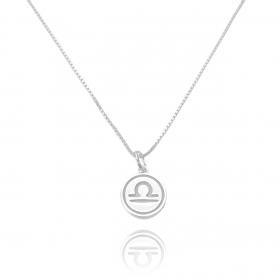 Pingente Signo Libra (1,4cmX1,2cm) (Prata 925 Maciça)