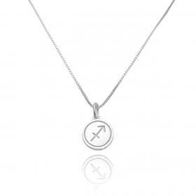 Pingente Signo Sargitário (1,4cmX1,2cm) (Prata 925 Maciça)