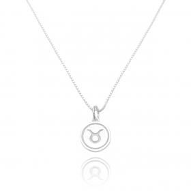 Pingente Signo Touro (1,4cmX1,2cm) (Prata 925 Maciça)