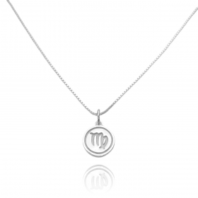 Pingente Signo Virgem (1,4cmX1,2cm) (Prata 925 Maciça)