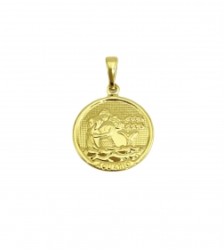 Pingente Signos (2,1cmX1,8cm) (Banho Ouro 24k) (Entre e Escolha seu Signo)