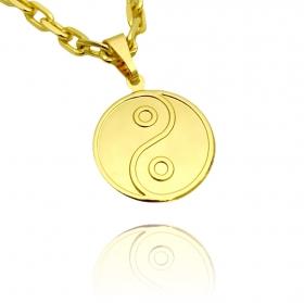 Pingente Yin Yang (2,5cmX2,2cm) (Banho Ouro 24k)