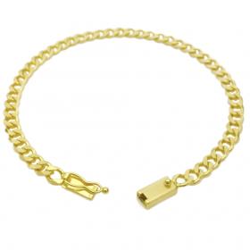 Pulseira Grumet 4,5mm (8,5g) (Fecho Gaveta) (Banho Ouro 24k)