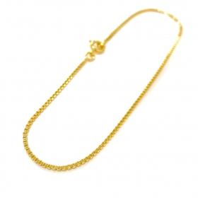 Pulseira Veneziana 1,2mm (Fecho tradicional) (Banho Ouro 24k)