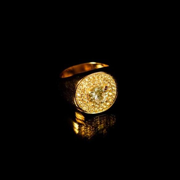 Anel 44 Pedras de Zircônia 7g (Banho Ouro 24k)