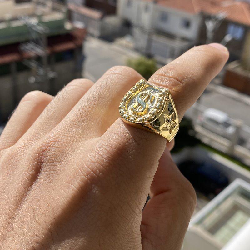 Anel Cifrão 1 (9,5g) (Banho Ouro 24k)