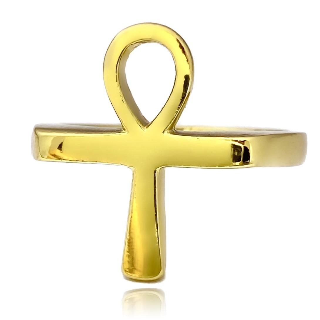 Anel Cruz Egípcia 5g (Banho  Ouro 24k)