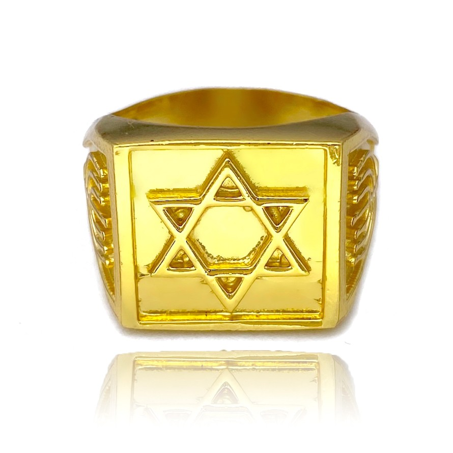 Anel Estrela de Davi (8,5g) (Banho Ouro 24k)