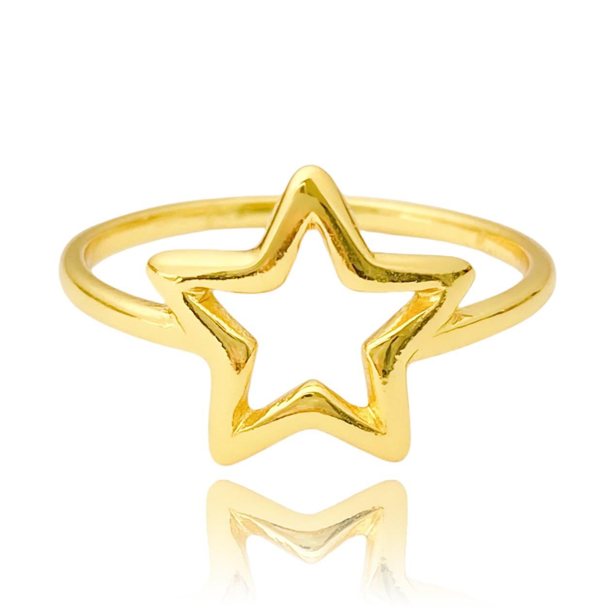 Anel Estrela Vazada (Banho Ouro 24k)