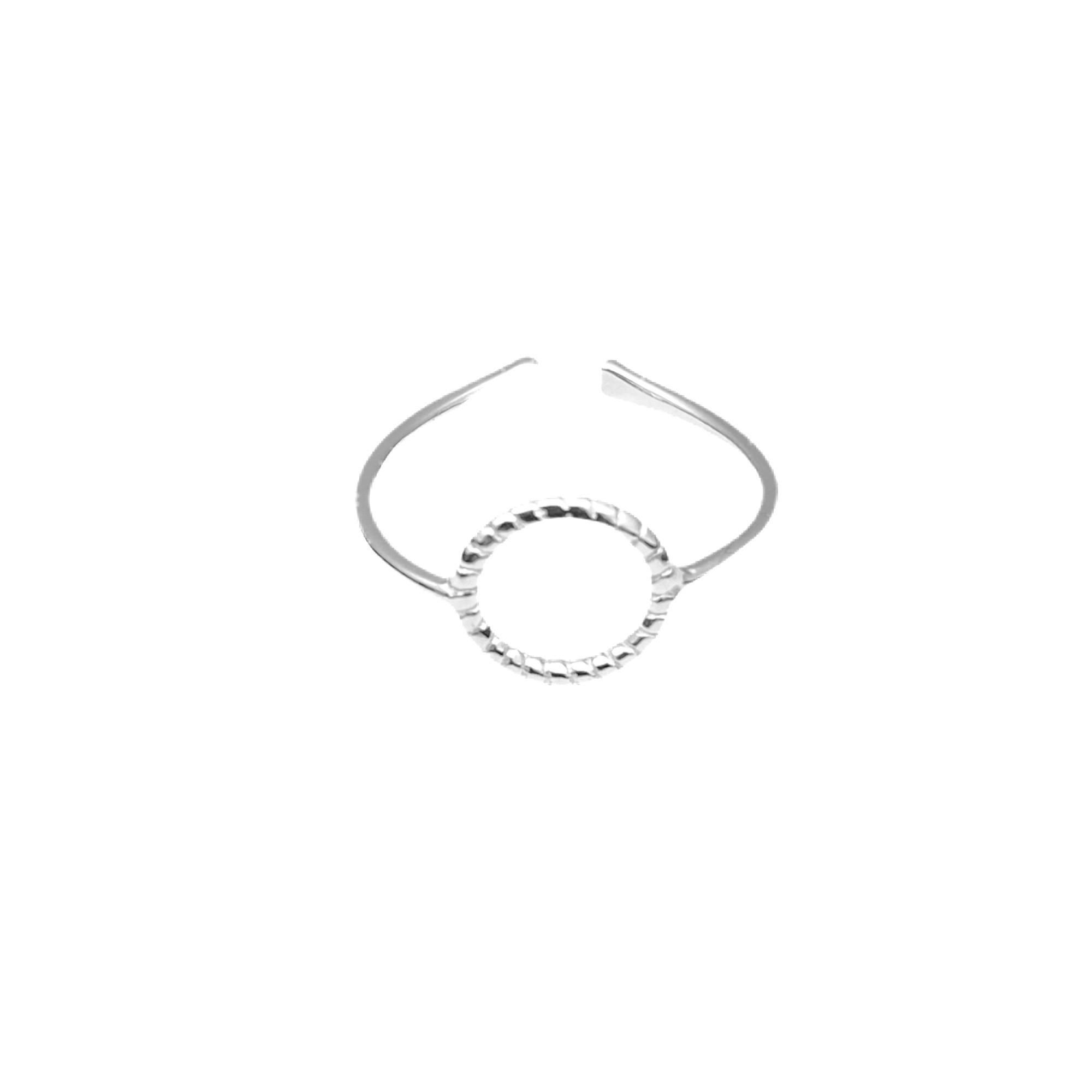 Anel Falange Arco (Ajustável) (Prata 925 Italiana)