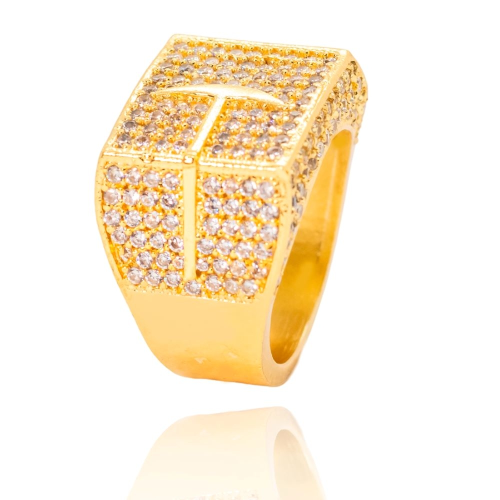 "Anel Garimpo ""Big Ring"" (10,7g) (Banho Ouro 24k)"