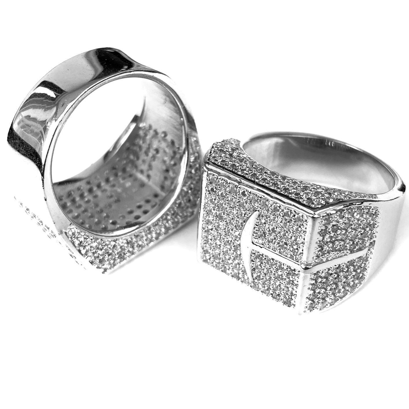 "Anel Garimpo ""Big Ring"" (Banho Prata 925)"
