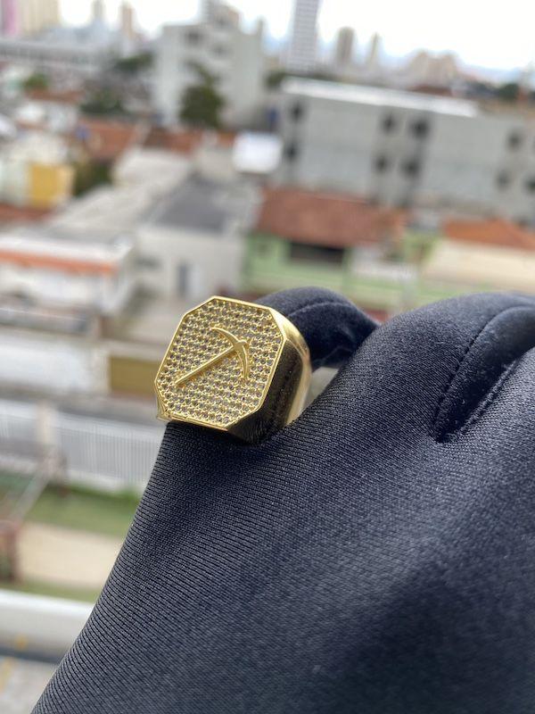 Anel GDO Astro 12g (Banho Ouro 18k)